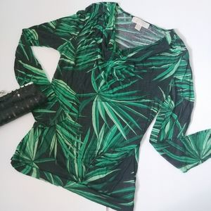 Michael Kors Women Cowl Neck Blouse Long Sleeves M